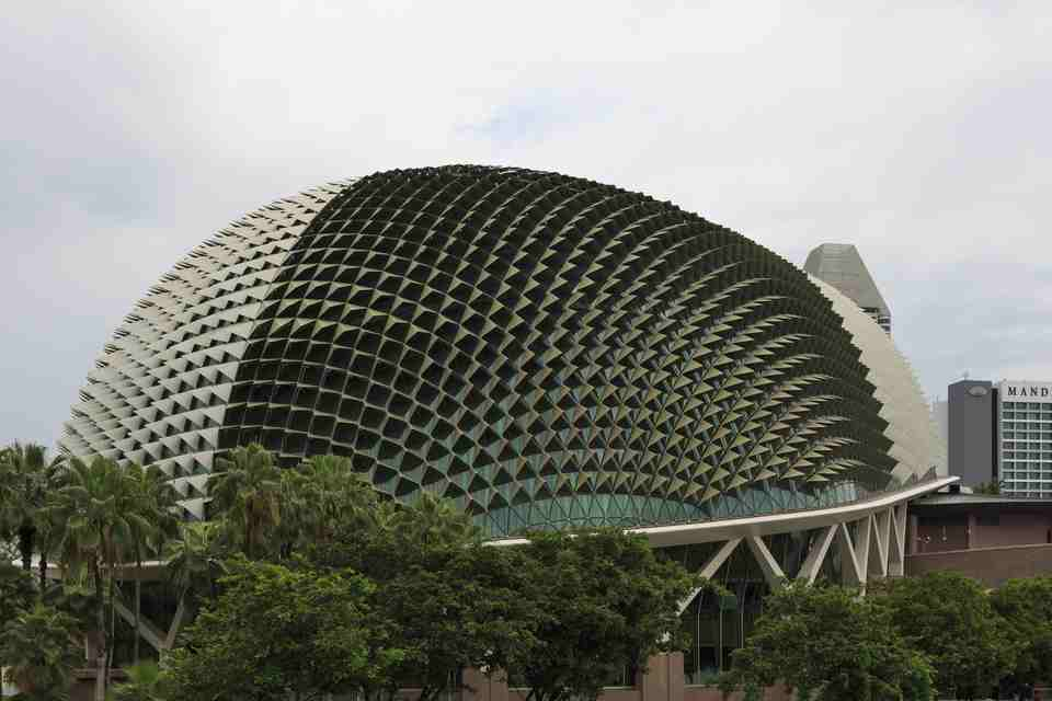 Bâtiment en forme de durian à Singapour