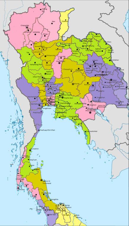 Carte du Siam en 1900